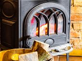 stock photo of firewood  - Winter at home - JPG