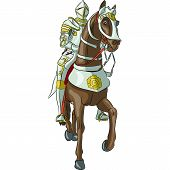stock photo of spears  - vector medieval knight in steel armor with a spear on horseback - JPG
