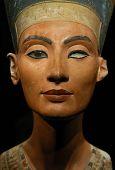 picture of nefertiti  - Famous bust of Queen Nefertiti in the Egyptian Museum in Berlin - JPG