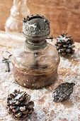 picture of kerosene lamp  - set with old - JPG