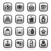 stock photo of piccolo  - Hotel and motel services icons  - JPG