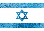 pic of israeli flag  - The Israeli flag painted watercolor hand made drawing - JPG