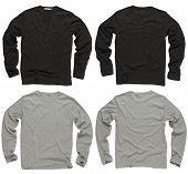 Blank Black And Gray Long Sleeve Shirts