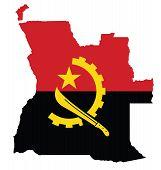 Постер, плакат: Angola Flag