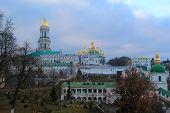 stock photo of kiev  - golden domes of kiev pechersk monastery in kiev, ukraine ** Note: Soft Focus at 100%, best at smaller sizes - JPG