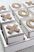 stock photo of tic-tac-toe  - Game of Tic Tac Toe - JPG