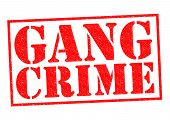 pic of gang  - GANG CRIME red Rubber Stamp over a white background - JPG