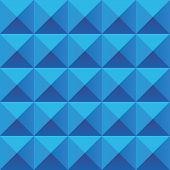 stock photo of prism  - Abstract blue geometric squares seamless pattern - JPG