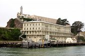 picture of alcatraz  - Alcatraz Island in the middle of San FranciscoBay - JPG