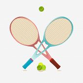 Постер, плакат: Tennis Equipment
