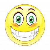 image of smiley face  - Stock vector image  - JPG