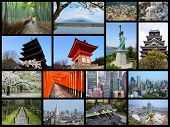 picture of mount fuji  - Japan travel photo collage - JPG