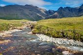 foto of chute  - Small stream on the Isle of Skye in Scotland - JPG