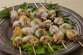 pic of cuttlefish  - Grilled cuttlefish bbq with rosemary and pepper - JPG