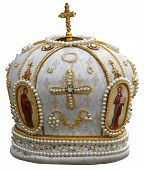 pic of headgear  - isolated solemn headgear of the orthodox bishop - JPG