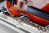 foto of wind instrument  - Musical instruments close up - JPG