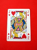Playing Card. Gambling. Game. Jack O Knave Of Hearts.