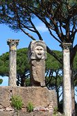 Satiric mask in Ostia Antica