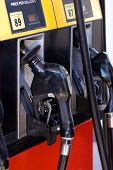 stock photo of fuel pump  - american gas station - JPG
