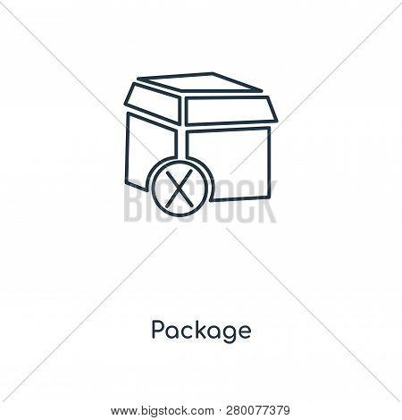 poster of Package Icon In Trendy Design Style. Package Icon Isolated On White Background. Package Vector Icon