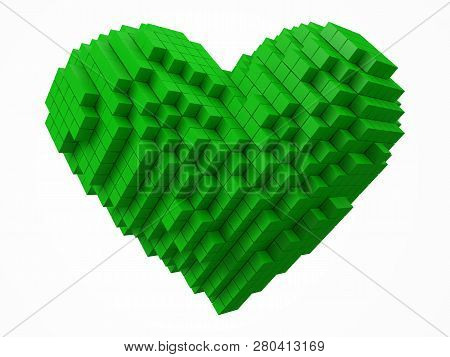 Heart Shaped Data Block Made
