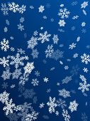 Snow Flakes Falling Macro Vector Graphics, Christmas Snowflakes Confetti Falling Scatter Card. Winte poster