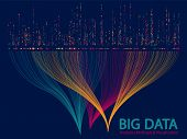 Big Data Analytics Methods And Visualization Concept Vector Design. 0 And 1 Binary Code Matrix Data  poster