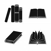 Isolated Object Of Library And Textbook Icon. Set Of Library And School Stock Symbol For Web. poster