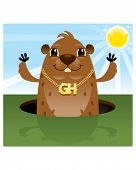 picture of groundhog  - Groundhog Day - JPG