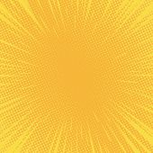 Comic Background Radial Speed Lines And Halftone Dots For Comic Books. Explosion Background.vector I poster