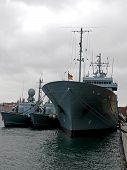 image of labo  - portrait of german navy ship in ocean - JPG