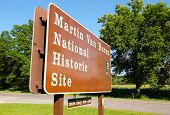 Martin Van Buren National Historic Site sign