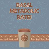 Handwriting Text Writing Basal Metabolic Rate. Concept Meaning Minimum Energy Level Require To Susta poster