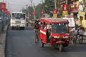 SILIGURI, INDIA - DECEMBER 4: Streets Siliguri -is a city the transit point for air, road and rail t
