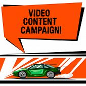 Word Writing Text Video Content Campaign. Business Concept For Integrates Engaging Video Into Market poster