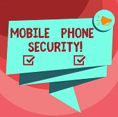 Text Sign Showing Mobile Phone Security. Conceptual Photo Secure Data On Mobile Devices Wireless Sec poster