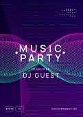Trance Event. Abstract Concert Magazine Template. Dynamic Gradient Shape And Line. Neon Trance Event poster