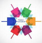 stock photo of dreidel  - Hanukkah colorful background with menorah and dreidel - JPG