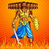 Burning Ravana in Dussehra
