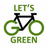 foto of biogas  - illustration of go green concept on white background - JPG