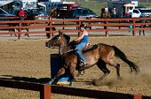 Barrel Racing Demo em Allen County Fair em Ohio de Lima