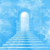 foto of stairway to heaven  - The stairway to heaven leading to God - JPG