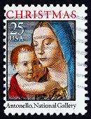 Postage Stamp Usa 1990 Madonna And Child By Antonello Da Mesina