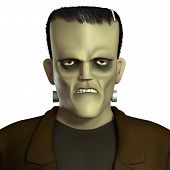 stock photo of frankenstein  - 3 d cartoon halloween horror Frankenstein monster - JPG