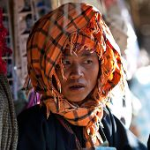 Pa-O tribe woman, Myanmar