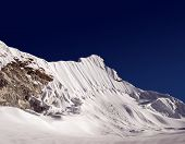 stock photo of sherpa  - there are 15 mountaineers shown in the picture climbing island peak - JPG