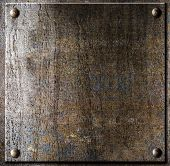 stock photo of ironclad  - old metal plate with rivets - JPG