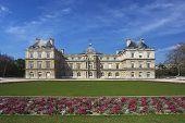 Постер, плакат: Люксембургский дворец и Сад Париж Франция