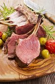 image of deer meat  - venison carree - JPG