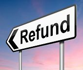 foto of reimbursement  - Illustration depicting a sign with a refunds concept - JPG